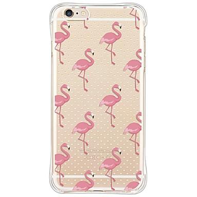 hoesje Voor Apple iPhone X iPhone 8 iPhone 6 iPhone 6 Plus Stofbestendig Schokbestendig Transparant Achterkant Flamingo Zacht TPU voor