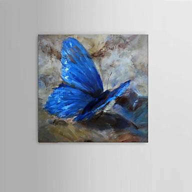 Maalattu Abstrakti / Eläin / Fantasy öljymaalauksia,Moderni / Pastoraali / European Style 1 paneeli Kanvas Hang-Painted öljymaalaus For
