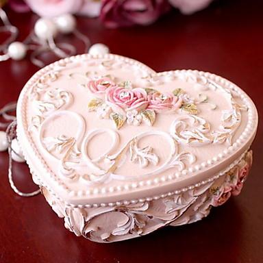 kreativ hjerteformet prinsesse harpiks dekorative bokse smykkeskrin