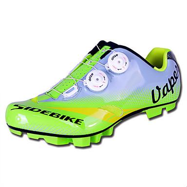 billige Sykkelsko-SIDEBIKE Mountain Bike-sko Karbonfiber Pustende, Anti-Skli Sykling Grønn Herre Sykkelsko