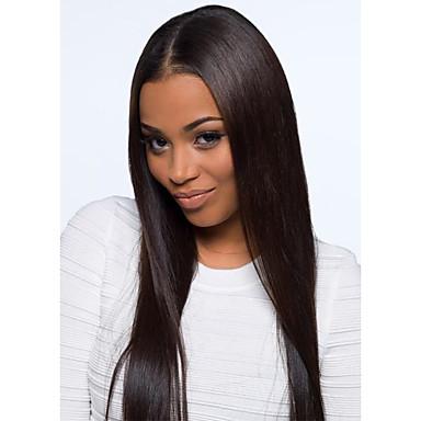 Menneskehår U-formet hætte Paryk Lige Paryk 130% Hår Densitet Natural Hairline Afro-amerikansk paryk 100 % håndbundet Dame Kort Medium Længde Lang Blondeparykker af menneskehår / Ret