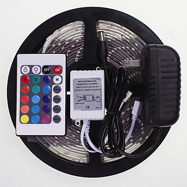 SENCART 5 m Controladores RGB 300 LED RGB Control remoto / Cortable / Impermeable 100-240V / 5630 SMD / Conectable / Auto-Adhesivas