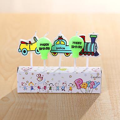 Juhlakoristeet syntymäpäivä kynttilöitä asetettu (5 kpl) syntymäpäivänään pieni sarjakuva kynttilät