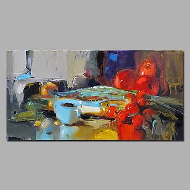 Handgeschilderde Stilleven Horizontaal,Modern Eén paneel Canvas Hang-geschilderd olieverfschilderij For Huisdecoratie