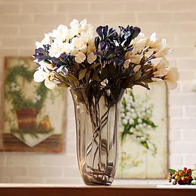 1 1 Afdeling Polyester / Plastik Liljer Bordblomst Kunstige blomster 25.5*3.14inch/65*8cm