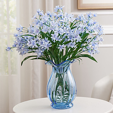 1 1 Afdeling Polyester / Plastik Orkideer Bordblomst Kunstige blomster 23.6*1.57inch/60*4cm
