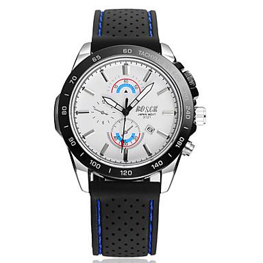 Heren Modieus horloge Kalender / Waterbestendig Rubber Band Informeel Zwart