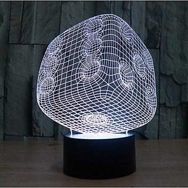 dobbelstenen aanraking dimmen 3D LED 's nachts licht 7colorful decoratie sfeer lamp nieuwigheid verlichting kerstverlichting