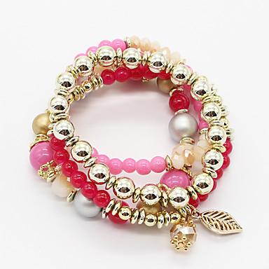 Dames Meisjes´ Armbanden met ketting en sluiting Bedelarmbanden WikkelarmbandenDubbele laag Modieus Vintage Bohemia Style Verstelbaar