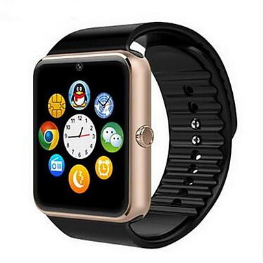 Herre Smartur Digital Sort Touch-skærm Alarm Kalender Digital Luksus - Guld Sort Sølv / Fjernbetjening / Skridttællere / Træningsmålere / Stopur