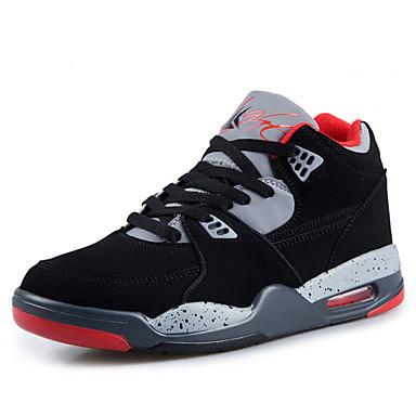 Sneakers-PU-Komfort-Dame-Sort-Udendørs Sport-Flad hæl