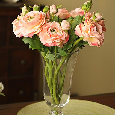 Flores artificiais 1 Ramo Estilo Moderno Camélia Flor de Mesa
