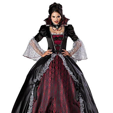 Vampyr Cosplay Kostumer Festkostume Dame Jul Halloween Karneval Festival / Højtider Udklædning Rød / Sort Vintage