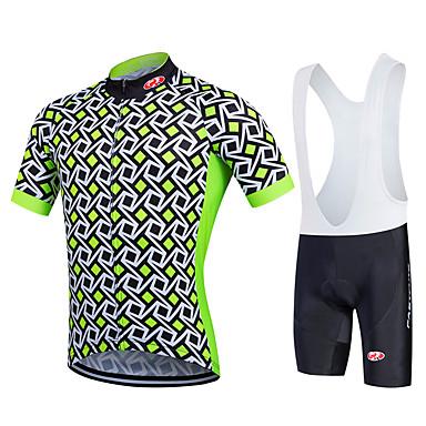 Fastcute Heren Dames Korte mouw Wielrenshirt met strakke shorts - Zwart Fietsen Fietsbroeken/Broekje Wielrenbroek/Fietsbroek Met