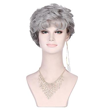 Cabelo Sintético perucas Encaracolado Sem Touca preto peruca Curto