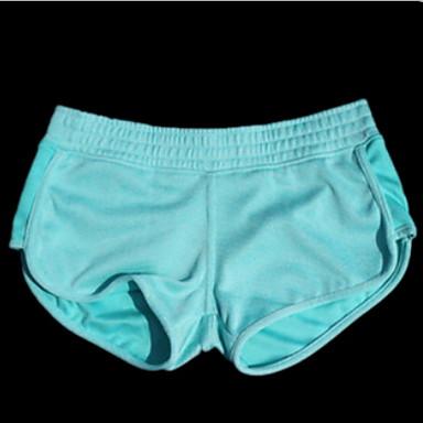Dames Hardloopshorts Ademend Comfortabel Broeken/Regenbroek/Overbroek voor Training&Fitness Hardlopen Katoen Chinlon Ruimvallend Paars