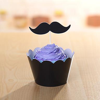 Syntymäpäivä Party Pöytä-Cupcake-paperit Leivontatarvikkeet Tägi Kova kartonki Koruton Teema
