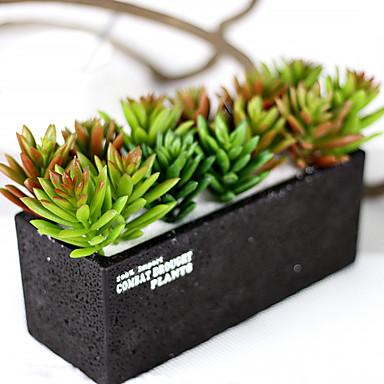 1Branch 1 Afdeling Plastik Planter Bordblomst Kunstige blomster 3.93inch/10cm