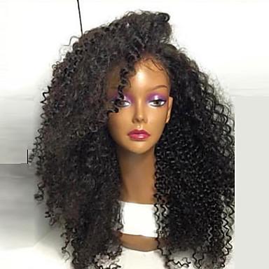 Peluca Lace Front Sintéticas Pelo sintético Entradas Naturales / Peluca afroamericana Negro Peluca Mujer Larga Encaje Frontal