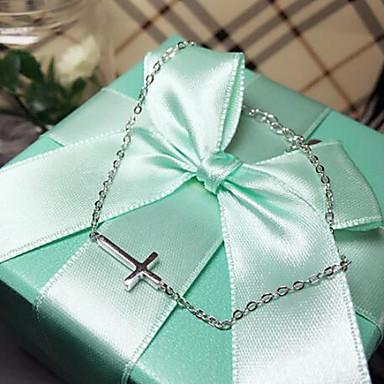 Dames Armbanden met ketting en sluiting Inspirerend Sterling zilver Kruis LOVE Sieraden Causaal