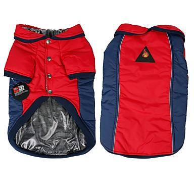 Hund Mäntel Hundekleidung Einfarbig Gelb Rot Baumwolle Kostüm Für Haustiere Herrn Damen Reversibel warm halten