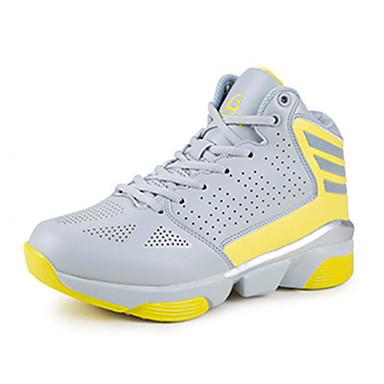 Sneakers-Tyl-Komfort-Unisex-Gul Grøn Hvid-Fritid-Flad hæl