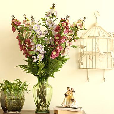 1 Gren Polyester Plastikk Andre Bordblomst Kunstige blomster