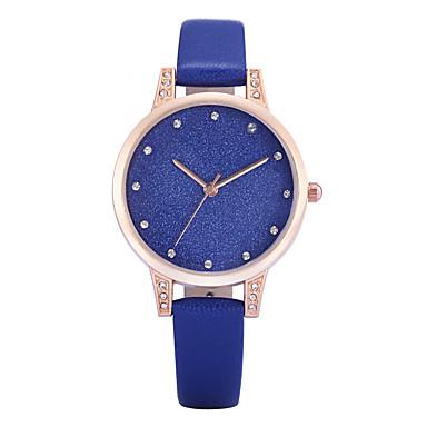 REBIRTH Pentru femei Ceas de Mână Quartz Piele PU Matlasată Negru / Alb / Albastru imitație de diamant Analog femei Charm Casual Modă Elegant - Gri Albastru Roz Doi ani Durată de Viaţă Baterie