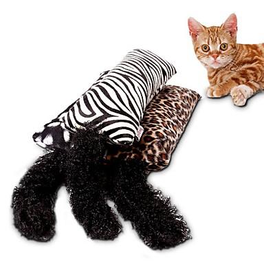 Katzenspielsachen Haustierspielsachen Katzenminze Interaktives Teaser Kratzbaum Leopardenmuster Textil Schwamm Für Haustiere
