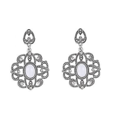 Naisten Boheemi Gemstone / Metalliseos - Boheemi Valkoinen Geometric Shape korvakorut Käyttötarkoitus Häät / Party / Päivittäin