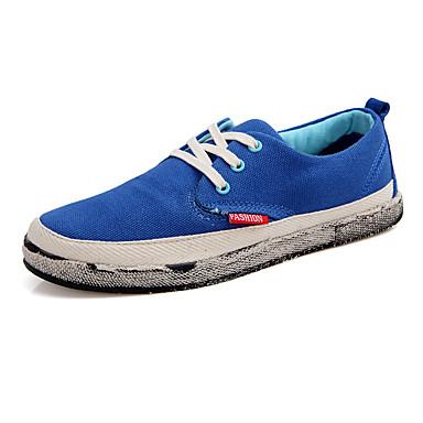 Sneakers-Kanvas Tyl-Komfort-Dame-Sort Blå Rosa Khaki-Udendørs Fritid Sport-Flad hæl
