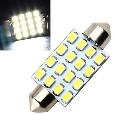 10stk 16smd 3528 36mm førte guirlande lys førte guirlande interiør dome lys lampe pære til bil (DC12V)