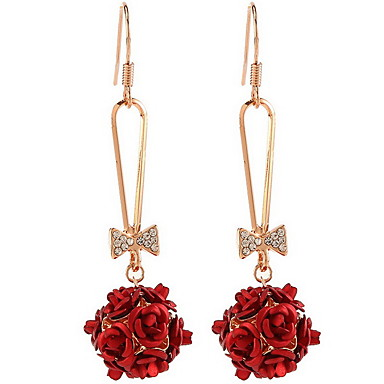 Naisten Pisarakorvakorut Muoti Metalliseos Flower Shape Rose Korut Käyttötarkoitus Päivittäin Kausaliteetti