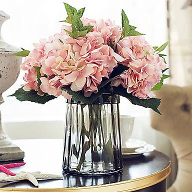 Flores Artificiales 5 Rama Estilo europeo Hortensias Flor de Mesa