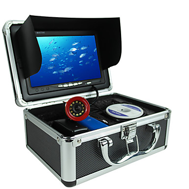 Localizadores de Peixe Impermeável LED Pesca de Mar Pesca no Gelo Pesca de Isco e Barco Portátil LCD Sem Fios 18650 Plástico Duro