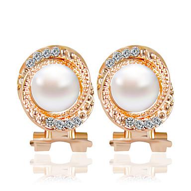 Mulheres Brincos Curtos - Fashion Dourado Para Casamento