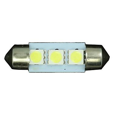 SO.K 10pcs 36mm Car Light Bulbs SMD 3528 40 lm 12 Interior Lights