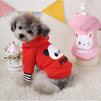 Hund Kapuzenshirts Hundekleidung Cosplay Kartoon Rot Rosa