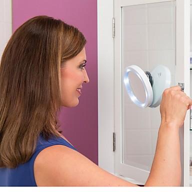 swivel brite 6 geleid 8x vergroting spiegel 360 swivel optreden van de badkamer een make-upspiegel