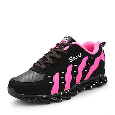 Sneakers-Kunstlæder-Rulleskøjtesko Komfort Ankelstøvler Modestøvler-Dame-Rød Hvid-Udendørs Fritid Sport-Kilehæl
