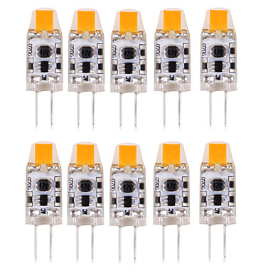 10 stuks 1W 100-150lm G4 2-pins LED-lampen T 1 LED-kralen COB Waterbestendig / Decoratief Warm wit / Koel wit / Natuurlijk wit 12V / 24V