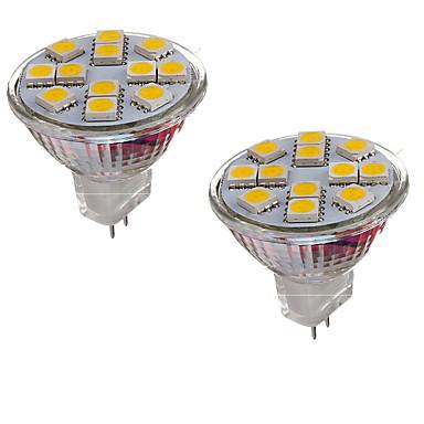 2W GU4(MR11) LED-lamper med G-sokkel MR11 12 leds SMD 5050 Dekorativ Varm hvid Kold hvid 150-200lm 3000-3500/6000-6500K Jævnstrøm 12V