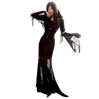 Cosplay Kostumer Party-kostyme Engel & Demon Zombie Vampyrer Festival/høytid Halloween-kostymer Vintage Kjole SjalHalloween Jul Karneval