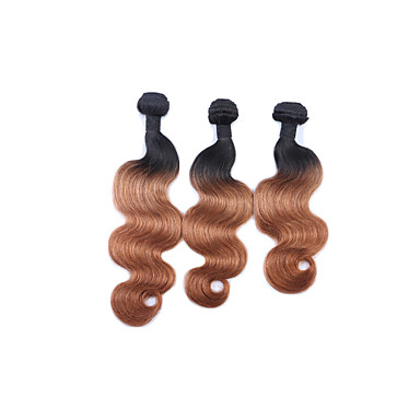 Cabelo Peruviano Onda de Corpo Tramas de cabelo humano 3 Peças 0.3