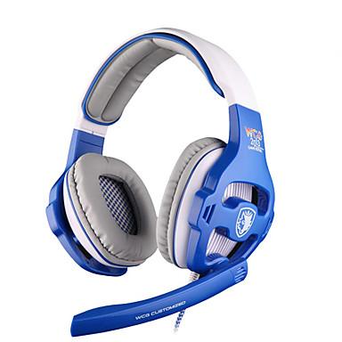 SADES WCG Sobre o ouvido Bandana Com Fio Fones Dinâmico Plástico Games Fone de ouvido Isolamento de ruído Com Microfone Com controle de