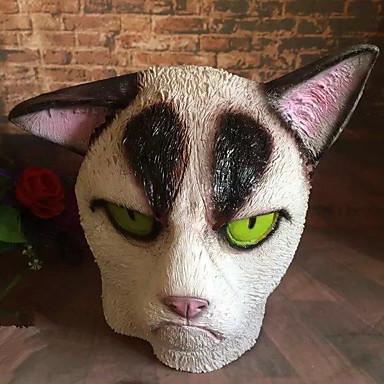 voordelige Maskers voor de feestdagen-Halloweenmaskers Dierenmasker Kat Horrorthema polykarbonaatti 1 pcs Stuks Speeltjes Geschenk