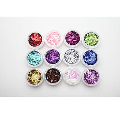 1pcs Nail Smykker Glitter & Poudre Paljetter Nail Stamping Template Nail Art Design Daglig Abstrakt Klassisk Glitter & Sparkle Høy