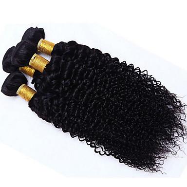 Menneskehår Vevet Malaysisk hår Dyp Bølge 18 måneder 4 deler hår vever