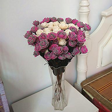 1 Gren Styropor Roser Bordblomst Kunstige blomster
