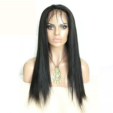 Human Hair Lace Wig Human Hair Full Lace Density Straight Wig Black Short Medium Length Long